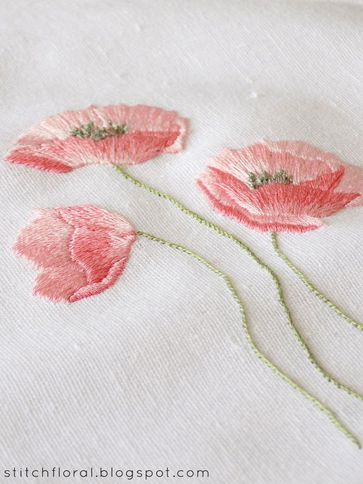 Dancing Poppies Hand Embroidery Freebie Embroidery