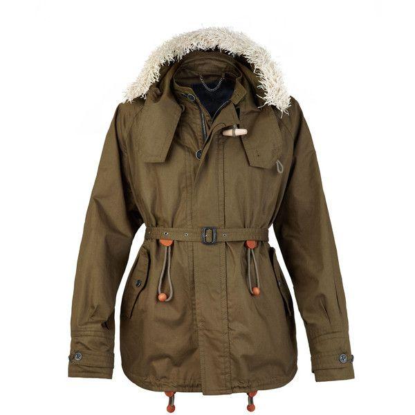 Burberry Raffia Trim Cotton Parka (€2.575) found on Polyvore featuring men's fashion, men's clothing, men's outerwear, men's coats, coats, outerwear, jackets, burberry, coats & jackets and menswear - coats