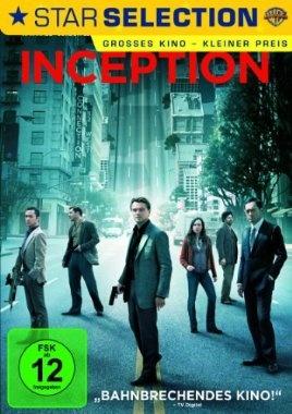Inception  2010 USA,UK      IMDB Rating 8,8 (636.613)  Darsteller: Leonardo DiCaprio, Joseph Gordon-Levitt, Ellen Page, Tom Hardy, Ken Watanabe,  Genre: Action, Adventure, Mystery,  FSK: 12