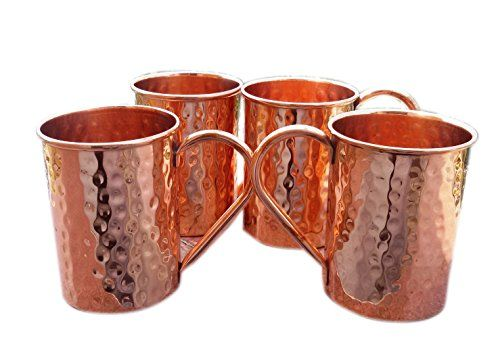 BLUE NIGHT Copper Moscow Mule Mug Drinkware Asian Kitchen Accessory,Set Of 4. >>> Awesome cat product. Click the image : Cat mug