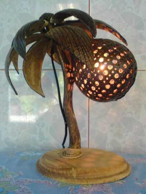 Lámpara de cáscara de coco | Coconut, Shells and Products