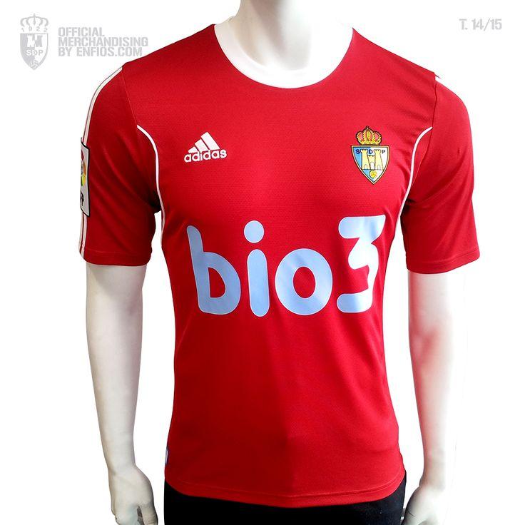 Camiseta 2º oficial S. D. PONFERRADINA, temporada 2014 / 15, Liga Adelante.