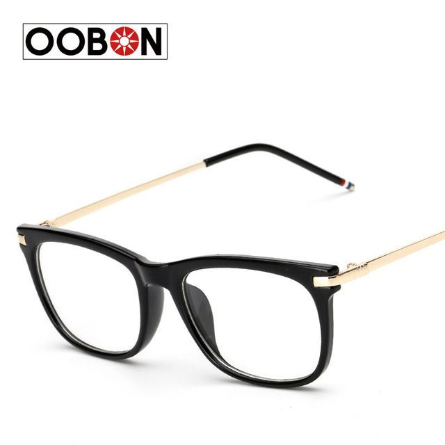 OOBON 2017 Latest trend cross eye glasses frames for women UV400 men Chrome  retro eyeglasses Femininos