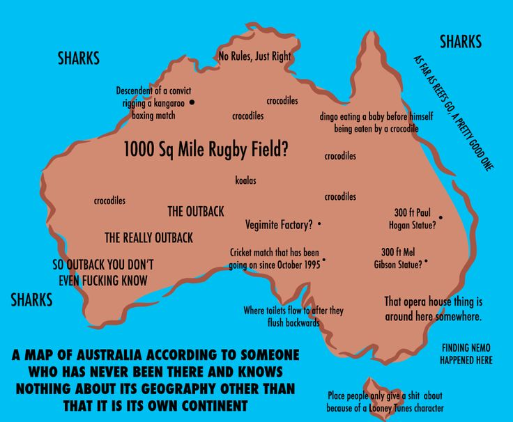 Response To Australian Man Who Has Never Been To The Us Draws Hilarious Map Of It