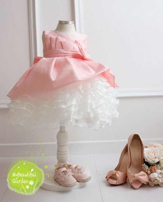 Princess baby girl dress with Pink tulle,Birthday Party Costume,Baby Tulle Dress on Etsy, $45.99