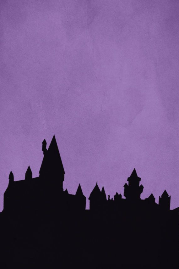 Hogwarts Silhouette Print by CitizenNerd on Etsy, $8.00