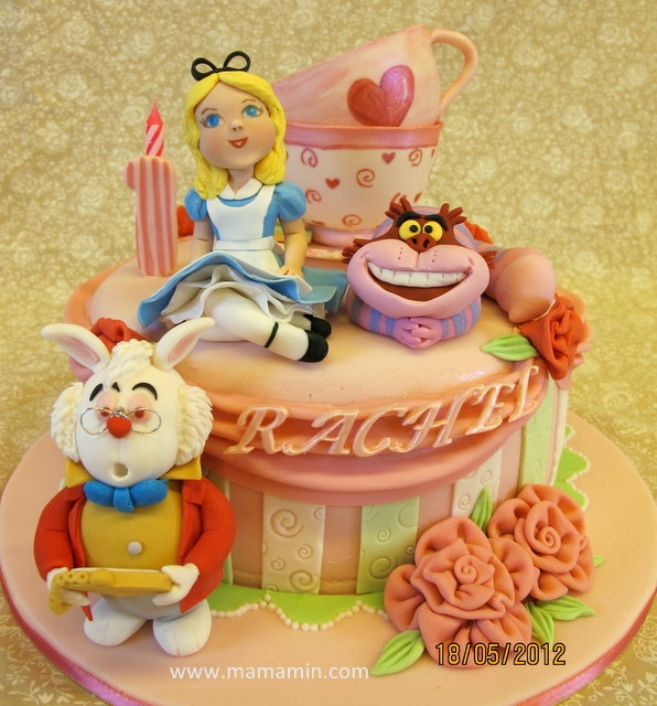 Alice In Wonderland cake for a 1st birthday by Mama Min, via Flickr