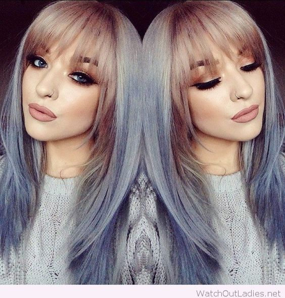 Blond and blue hair colors