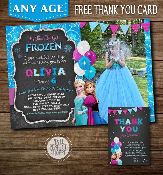 FROZEN BIRTHDAY INVITATION Frozen Invitation by PixelPerfectShoppe