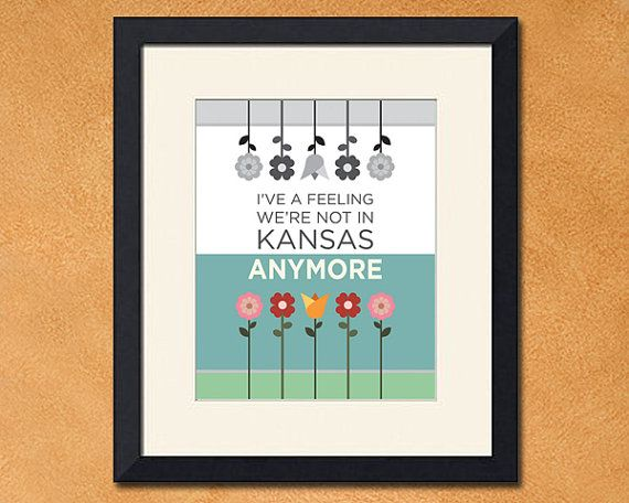 """Not in Kansas Anymore"", Wizard of Oz Inspired Art Print, 8x10 inch by FaithHopeTrick"