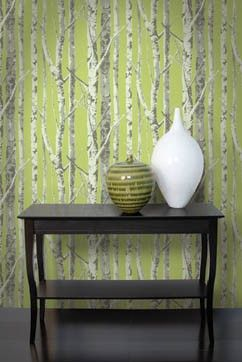 Birch tree wall paper + others like Regina's office from once upon a time! Love it!!