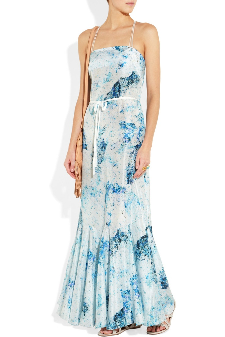 Edun | Printed silk-habotai dress