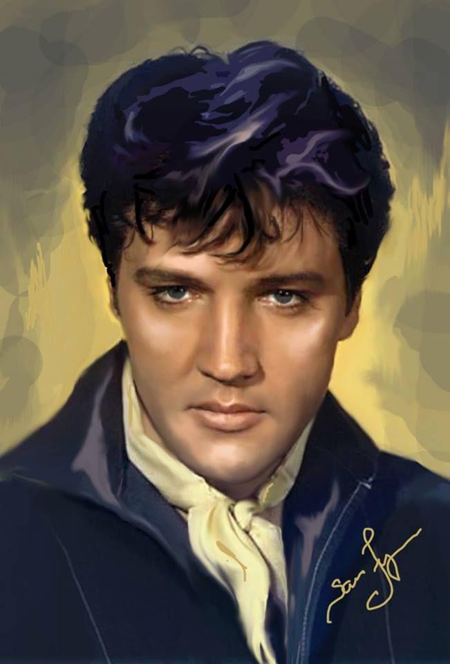 Sara Lynn Sanders´ art. Elvis Aaron Presley - January 8, 1935 Tupelo…