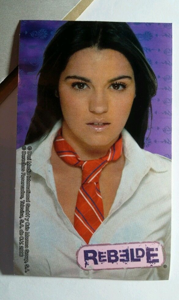 REBELDE RBD MAITE PERRONI MAI LUPITA RED NECK TIE PURPLE #11 MUSIC TV STICKER