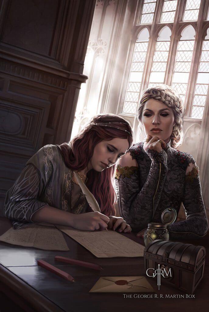 """A carta de Sansa, """"A letra é de sua irmã, mas as palavras são da rainha."""""""
