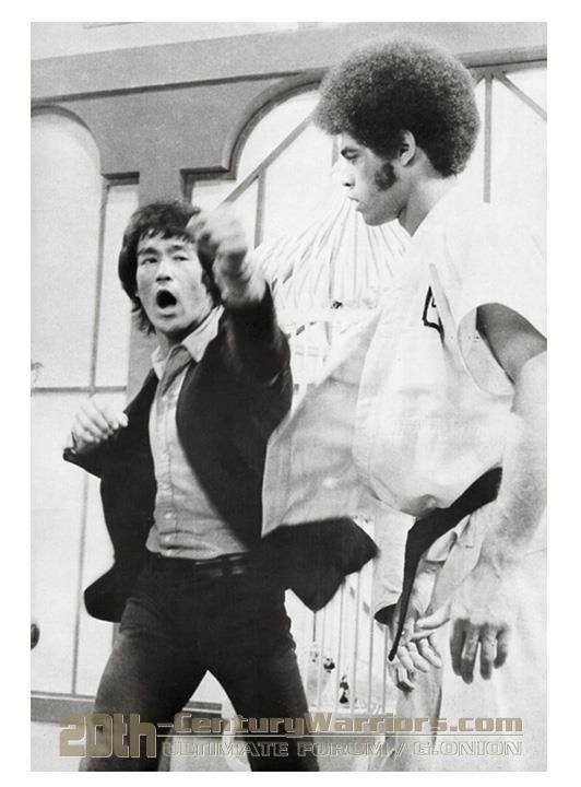 Bruce done all the fight choreography on Enter the Dragon with Jim Kelly