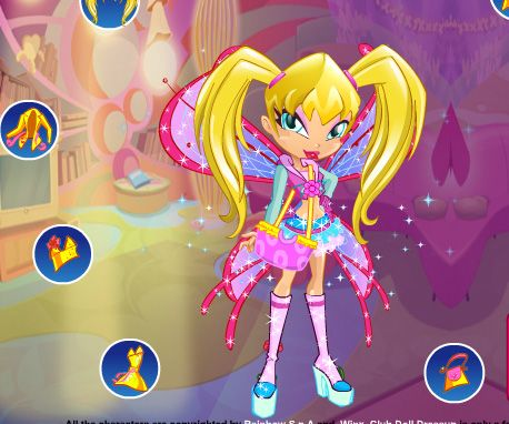 Winx Club Doll DressUp game online | Girls games only