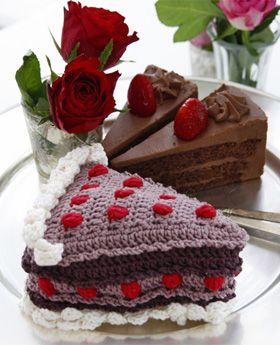 Hæklet kage helt uden kalorier