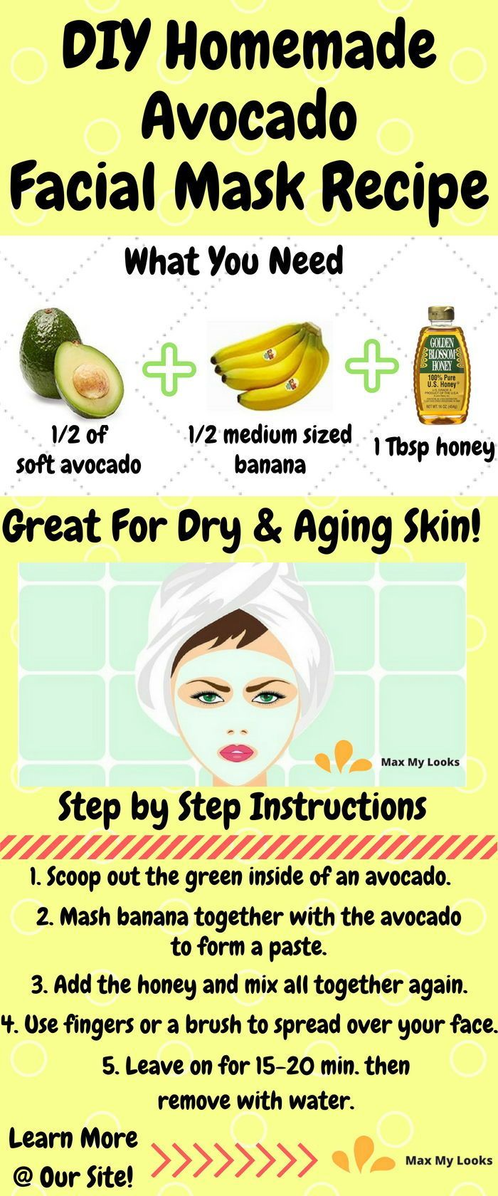 Try This Diy Homemade Avocado Face Mask Recipe It S Perfect For Dry Or Aging Skin In Need Of A Lift A Mask For Dry Skin Avocado Face Mask Homemade Facial Mask