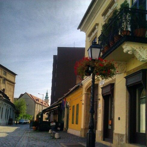Old Buda cobbled street