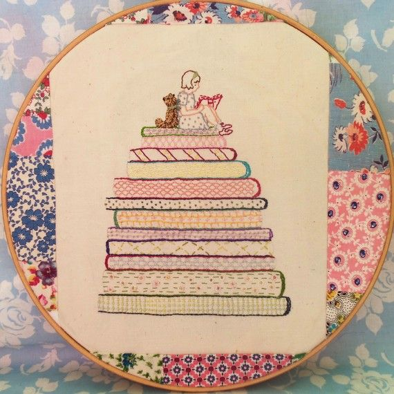 Rosie bear a good book pdf embroidery pattern