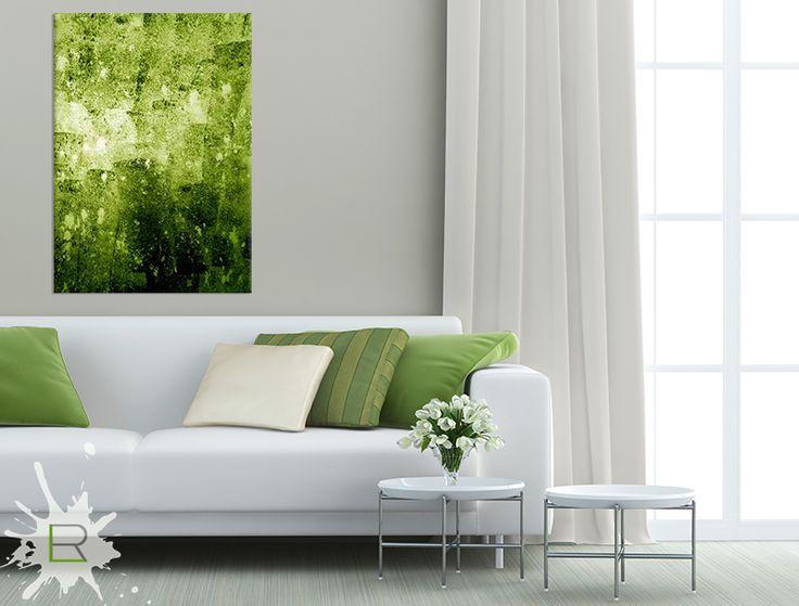 Obraz Zielona Abstrakcja