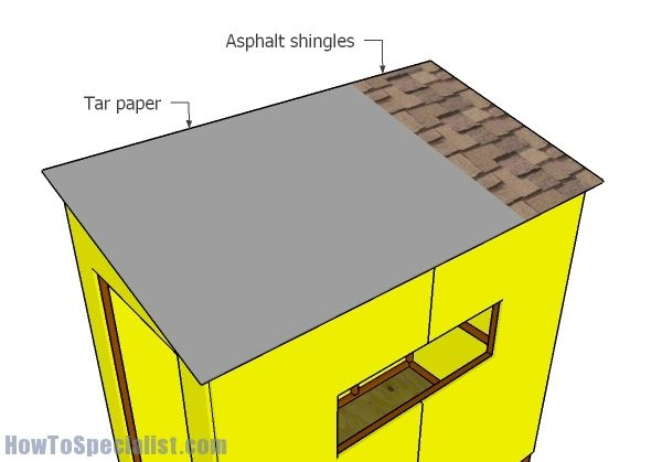 4x8 Ice Shack Roof Plans Howtospecialist How To Build Step By Step Diy Plans Roof Plan Diy Plans Ice Shanty Plans