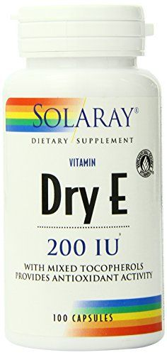 """Enjoy the benefit of natural antioxidant activity without worrying about digestive side effects with Solaray's Dry E 200 IU.       Famous Words of Inspiration...""""Those whom the gods love grow young.""""   Oscar Wilde — Click here for more... more details at http://supplements.occupationalhealthandsafetyprofessionals.com/vitamins/vitamin-e/product-review-for-solaray-dry-vitamin-e-200-capsules-100-count/"""