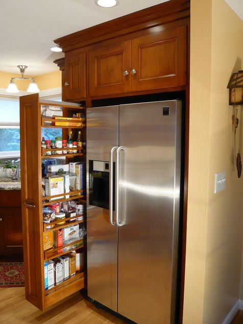 Skinny Slide Out Drawer Next To Fridge Cabinet It Pinterest Drawers Custom Cabinets And