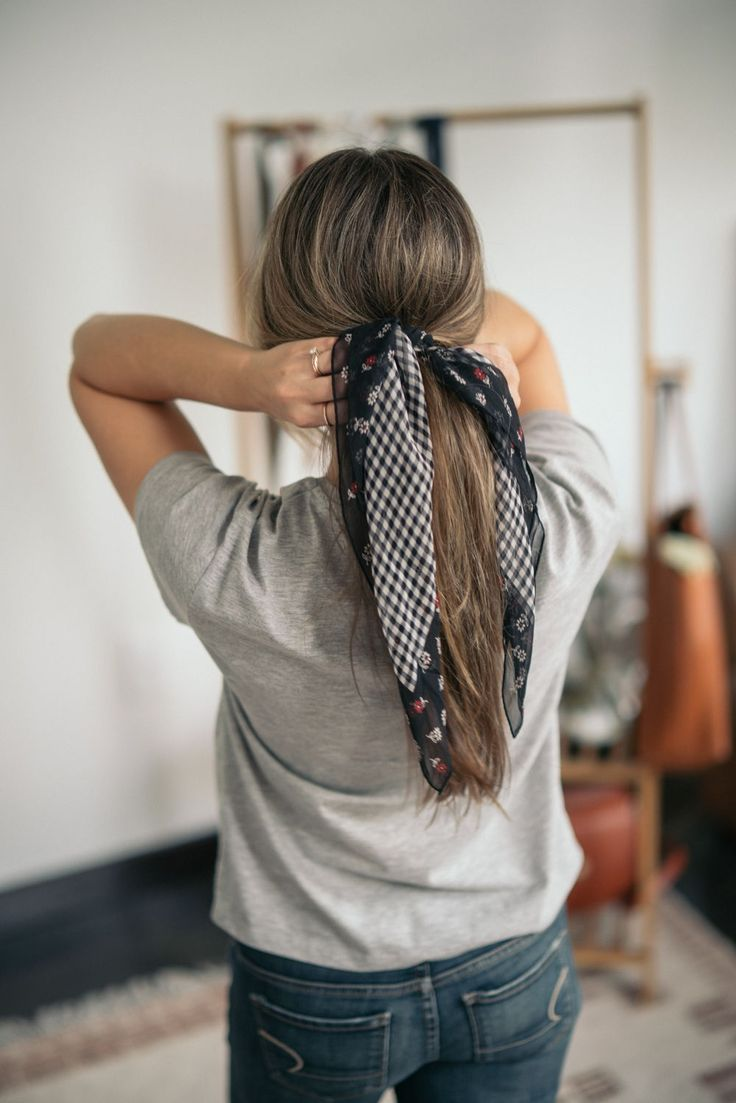 Scarf Hairstyles for Long Hair