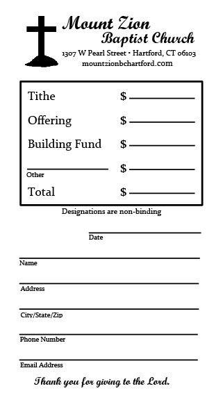 design your own offering envelopes