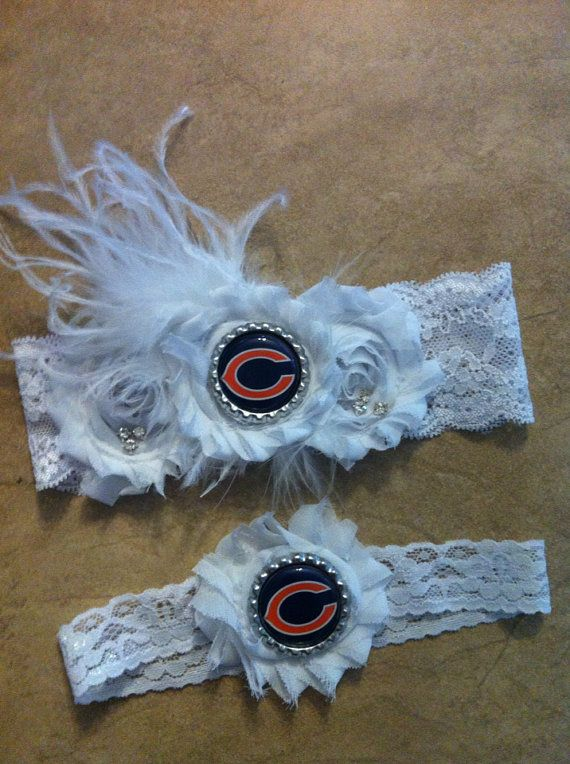 Chicago Bears garter. Chicago Bears wedding by Classyritzybabies, $22.00