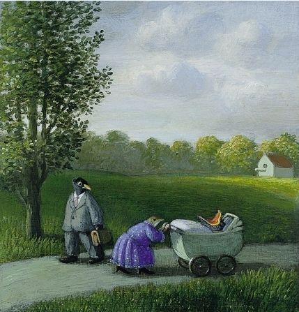 Michael Sowa (born 1945) is a German artist known for his whimsical, surreal and stunning paintings often featuring animals. His works ar...