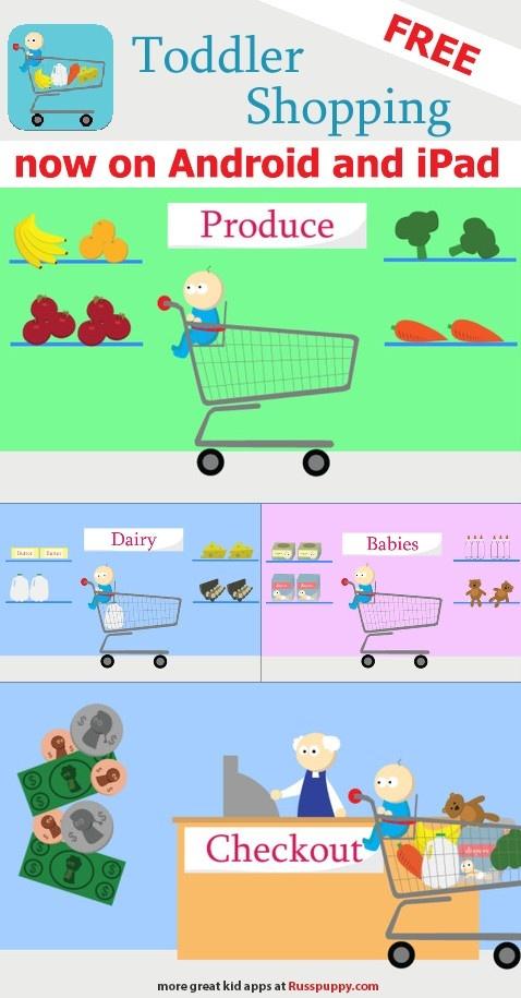 free toddler shopping game for kids