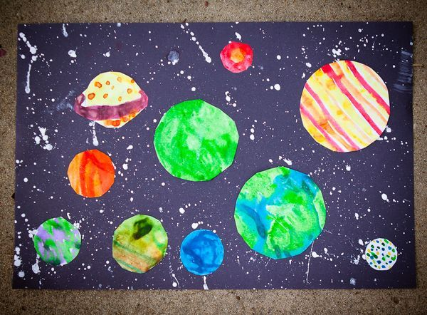 Craft thursday we saw this idea on pink green mama for Outer space crafts