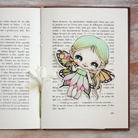 Little Fairy bookmark by ribonitachocolat on Etsy
