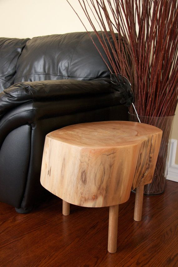 This table is made from salvaged wood in York Region, Ontario. The tabletop is 20 x 16 at its widest. The tabletop thickness is 9. Including the