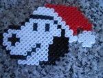 Santa snoopy perler bead