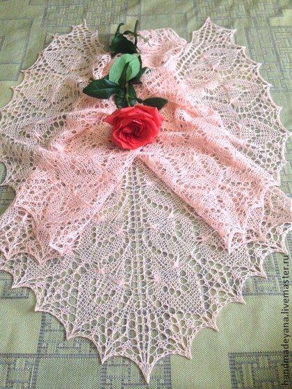 Шаль Нежная роза фото #1