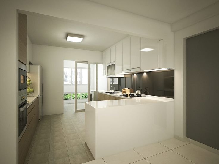 Hdb 4 room with modern bright and airy feel interior for Kitchen ideas hdb