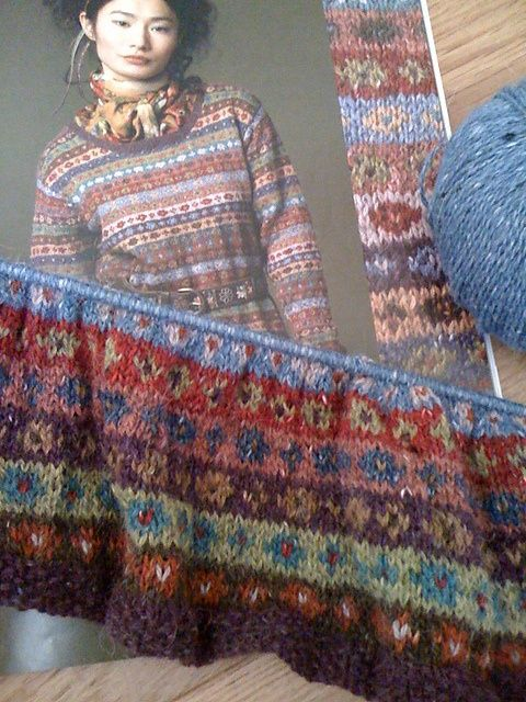 kaffe fassett knitting patterns | Kaffe Fassett closer look at pattern, 11 ... | Knitting, Crochet, Ya ...