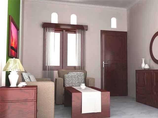 Desain Ruang Tamu Lebar