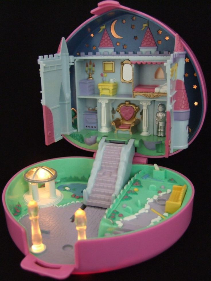"Polly Pocket's Starlight Castle was always my favorite one. (This is actually a ""today's dollhouse"" pin, as I already own this.)"