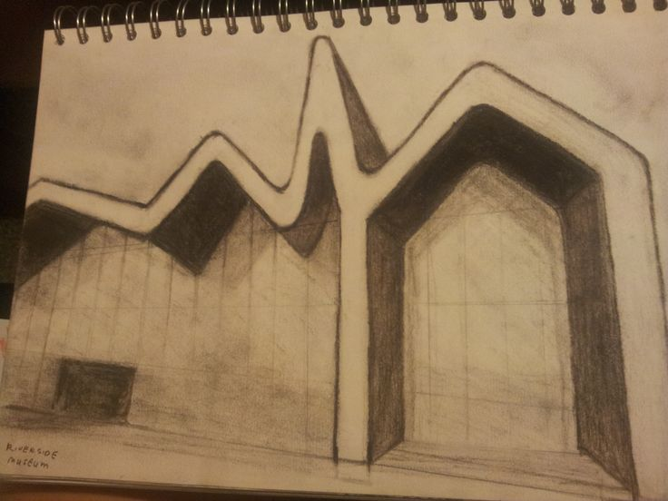 Glasgow Riverside Museum #Charcoal