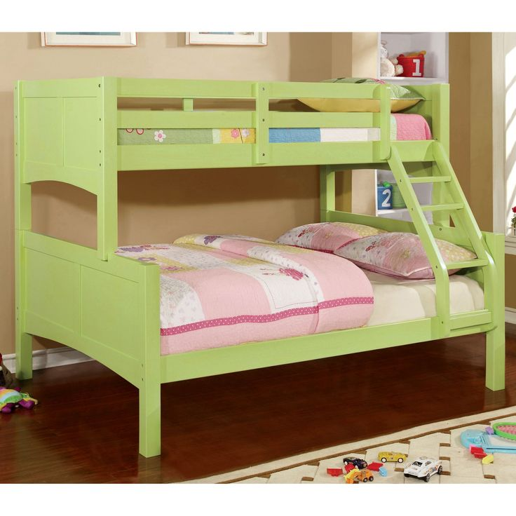 Furniture Of America Barnes Twin Over Full Bunk Bed With Images