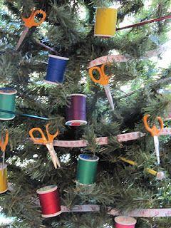 Vielleicht muss ich einen Baum in meinem Näh- / Bastelraum aufstellen!   – For the Home