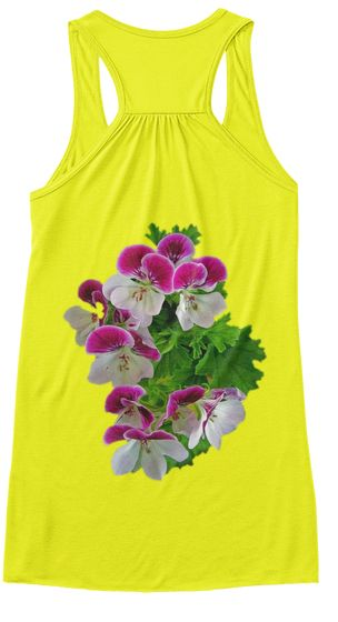 Orchid Flower Neon Yellow T-Shirt Back