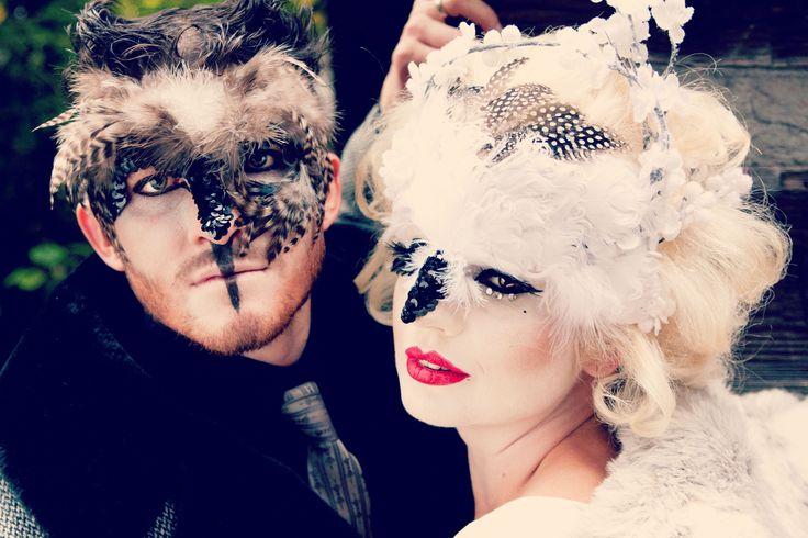 Owl Masks created by Alisa Ann Tetreault Clothing: Most Everything Vintage, Model: Ben Fillekes and Doe Dear Photographer: May Faith Photographer MUAH for Ben: Brett Allred and Katelyn Carbijal of Beigeblond Salon, Hair for Doe dear: Ashley Rauch and MUA: Kandie Smith #owl #owlmask #ladyowl #owlman #mrandmrsowl #owlphotograph #creativeowl #animalmask #creativeanimalmasks #creativephotography #vancouverwashington