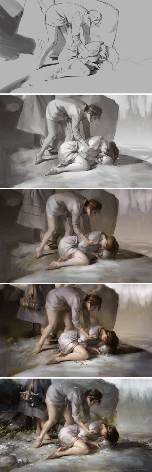 Fantasy Illustration Blog by Cynthia Sheppard: Step-by-Step and Thank You to Family, Friends, and Fans
