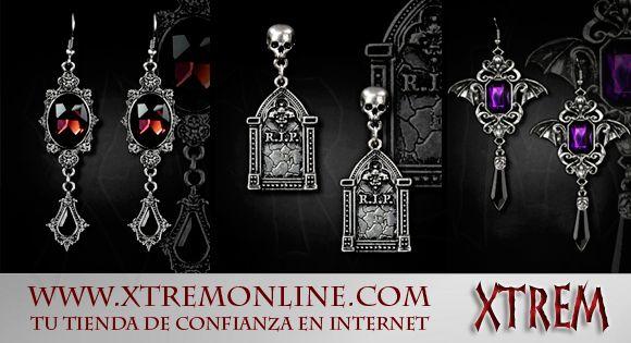 ¿Has visto nuestra nueva colección de pendientes góticos y victorianos? Echa un vistazo a todos los modelos disponibles haciendo click aquí: http://www.xtremonline.com/es/171-pendientes